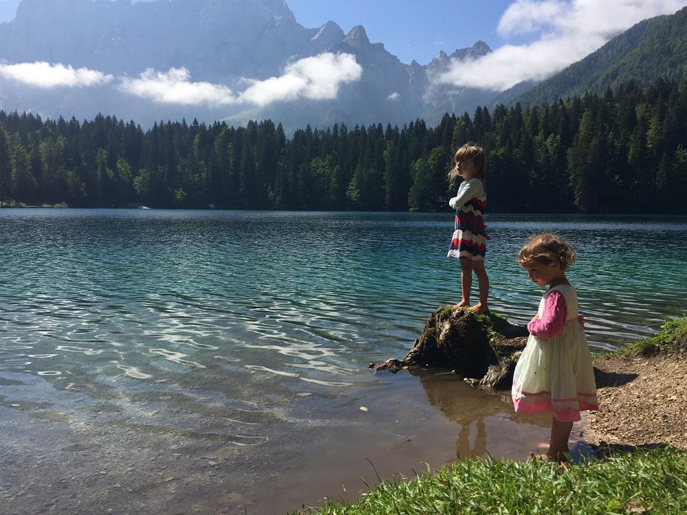 deti, príroda, hory, voda, jazero
