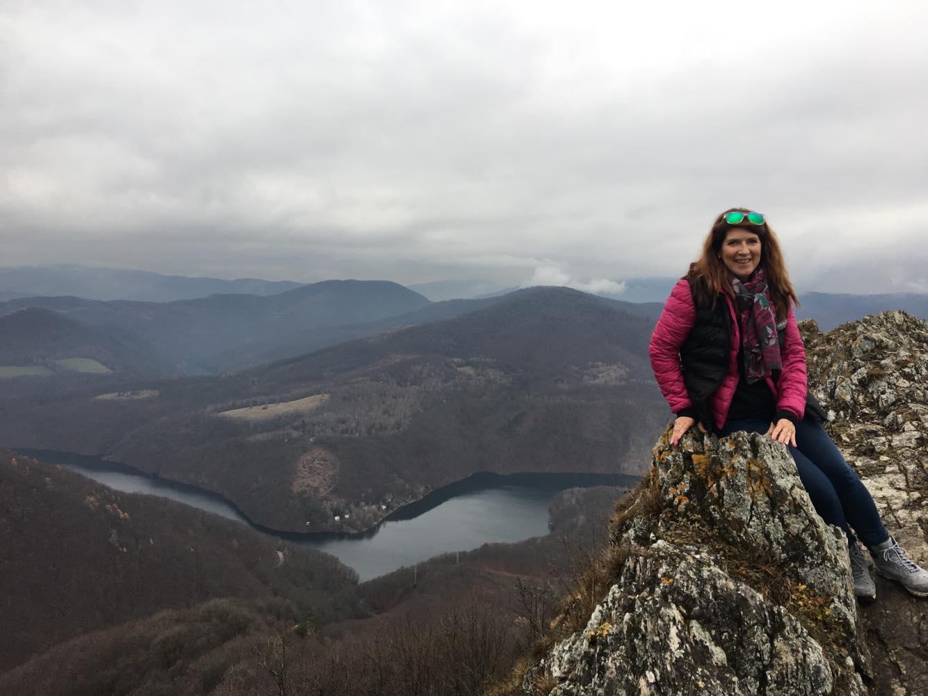 žena, hory, skaly, príroda