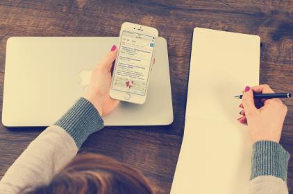 smartphone, článok, instagram