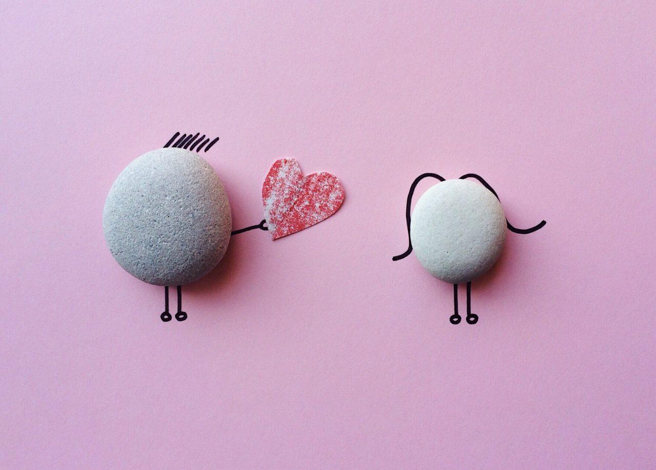 láska tu, ľúbite sa, animovaný obrázok, koláž, valentín