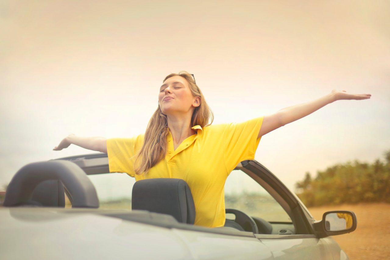 žena za volantom, žena šoféruje, strach zo šoférovania