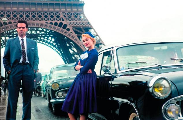 pariz, pisanie, eiffelovka, retro, film
