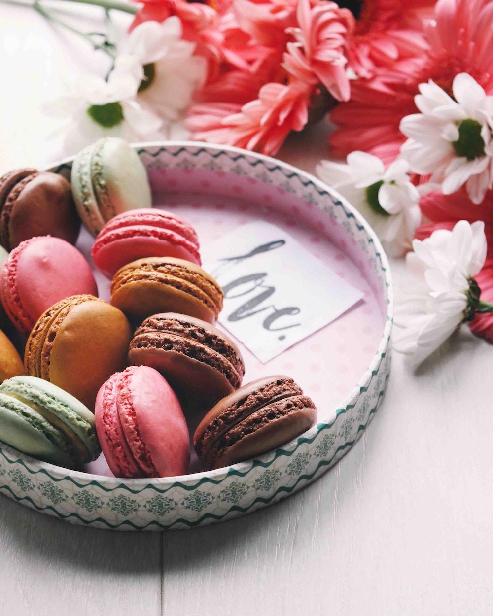 makrónky, jedlo, sladkosti, výživa, dezert