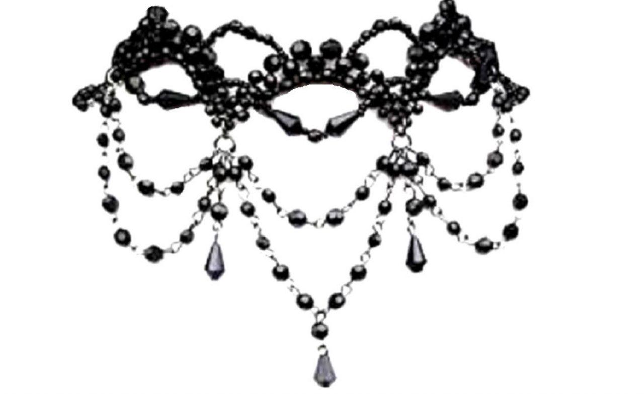 obojok, gothic, korálkový, náhrdelník