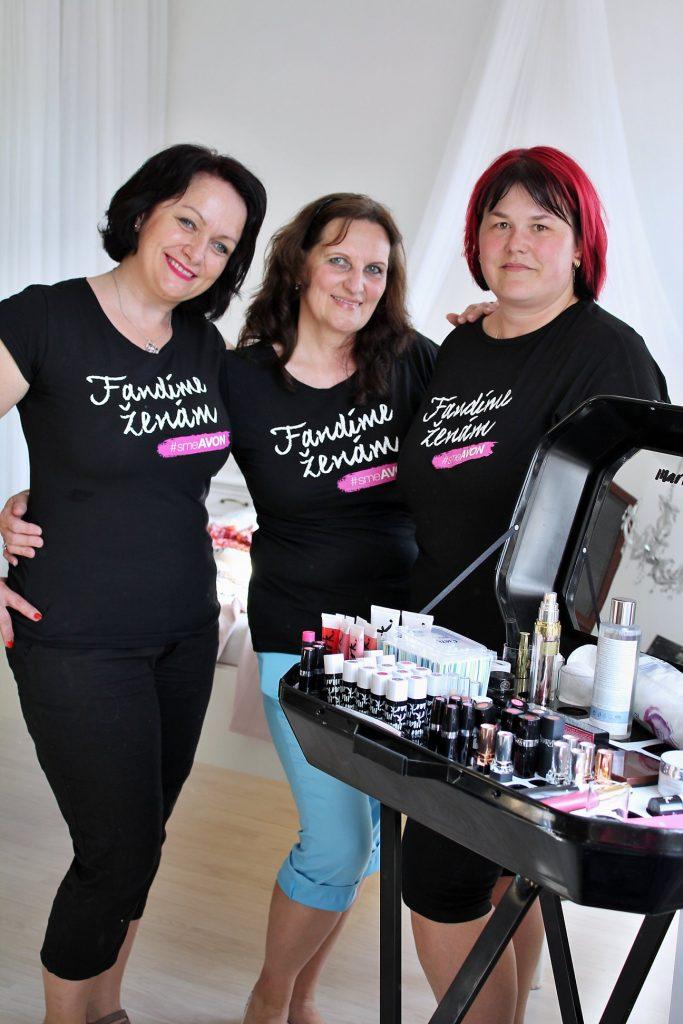 fandíme ženám, avon Slovensko, akčné ženy, líčenie