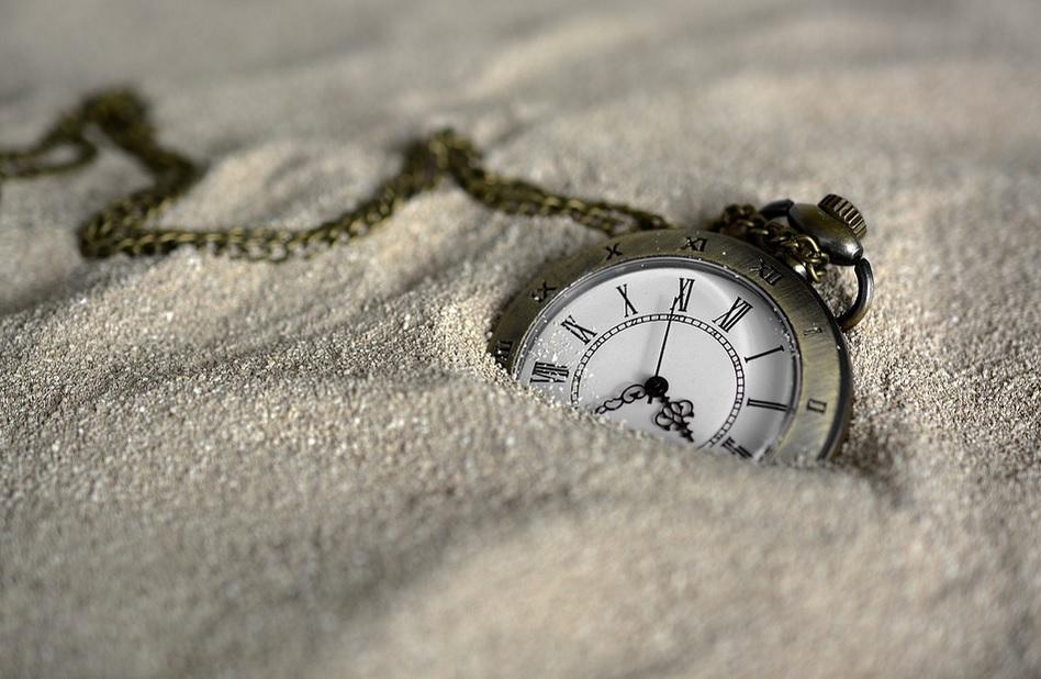 cas, hodiny, piesok