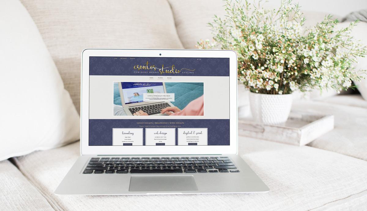 csontos-studio, homepage, ukazka, branding, logo