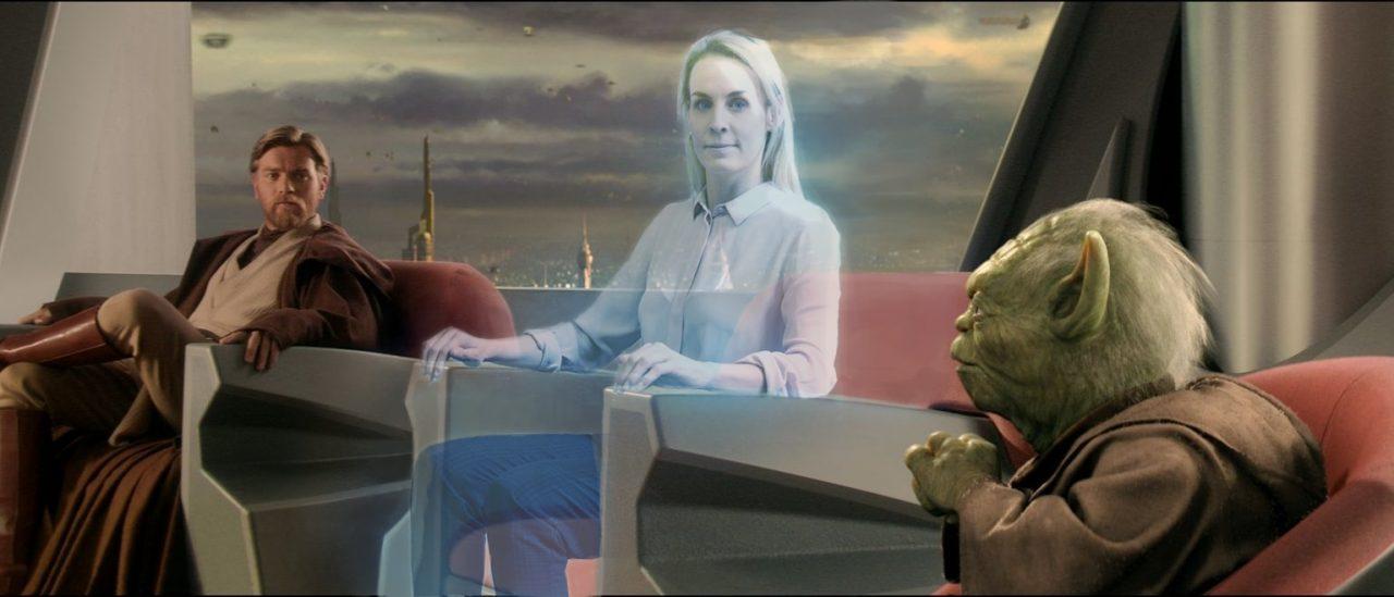 teleportacia, star wars, 3D skype