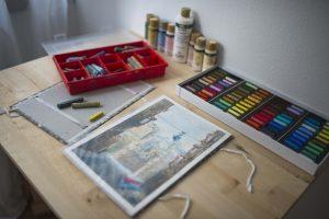 umelec, maliar, tvorba, ateliér