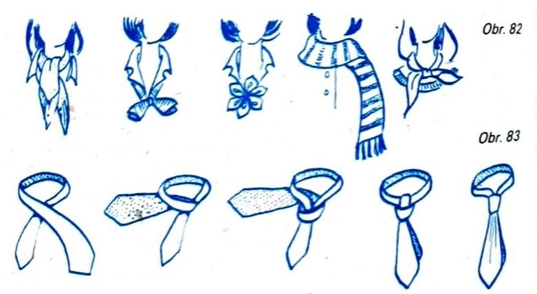 spôsoby viazania šatky a kravaty