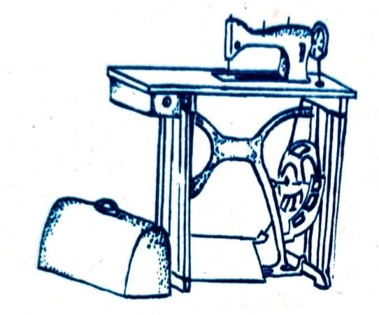 Praktická dívka - šijací stroj